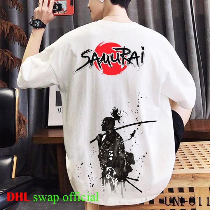 áo thun tay lỡ DHL swap dáng Unisex form rộng phong cách Ulzzang in hình samurai - DHL2
