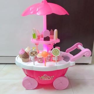 Đồ chơi xe đẩy kem có đèn và nhạc vui nhộn