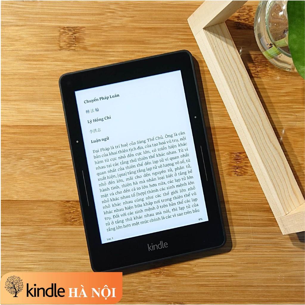 Máy đọc sách Kindle Voyage (7th) bộ nhớ 4GB, màn hình 6inch 300PPI sắc nét có đèn nền với phím chuyển trang