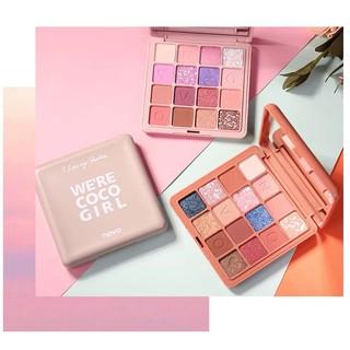 NOVO - Bảng phấn mắt 16 màu We re Coco Girl tông tím tông cam đào hồng đào xinh xắn hot trend