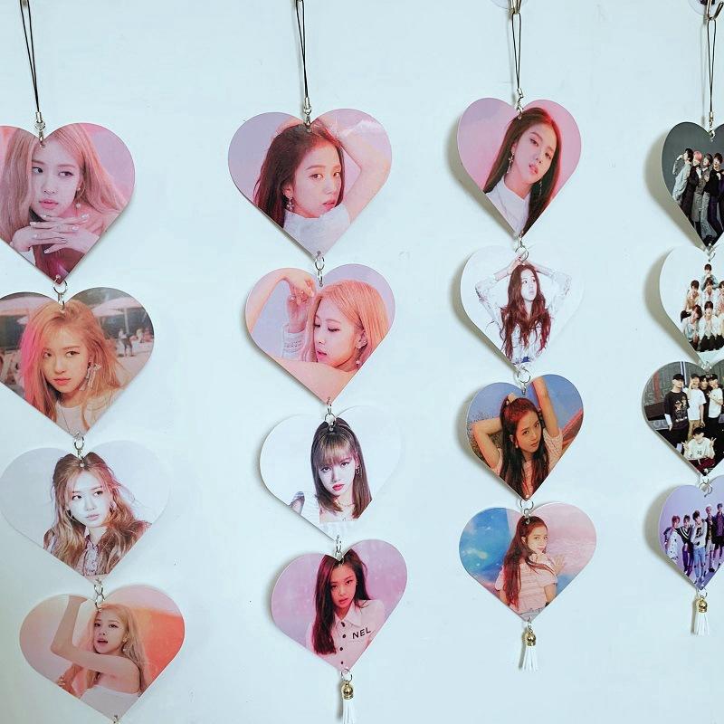 Trái tim có in hình nhóm nhạc KPOP BTS blackpink