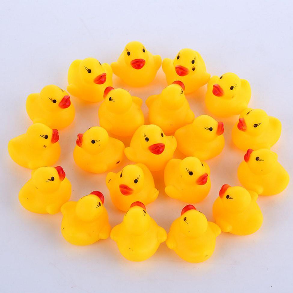 Bộ 10 con vịt đồ chơi thả bồn khi tắm cho bé