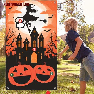 XUANYUAN1 Felt Sandbag Game Toys Halloween Games Party Decorations for Kids Halloween