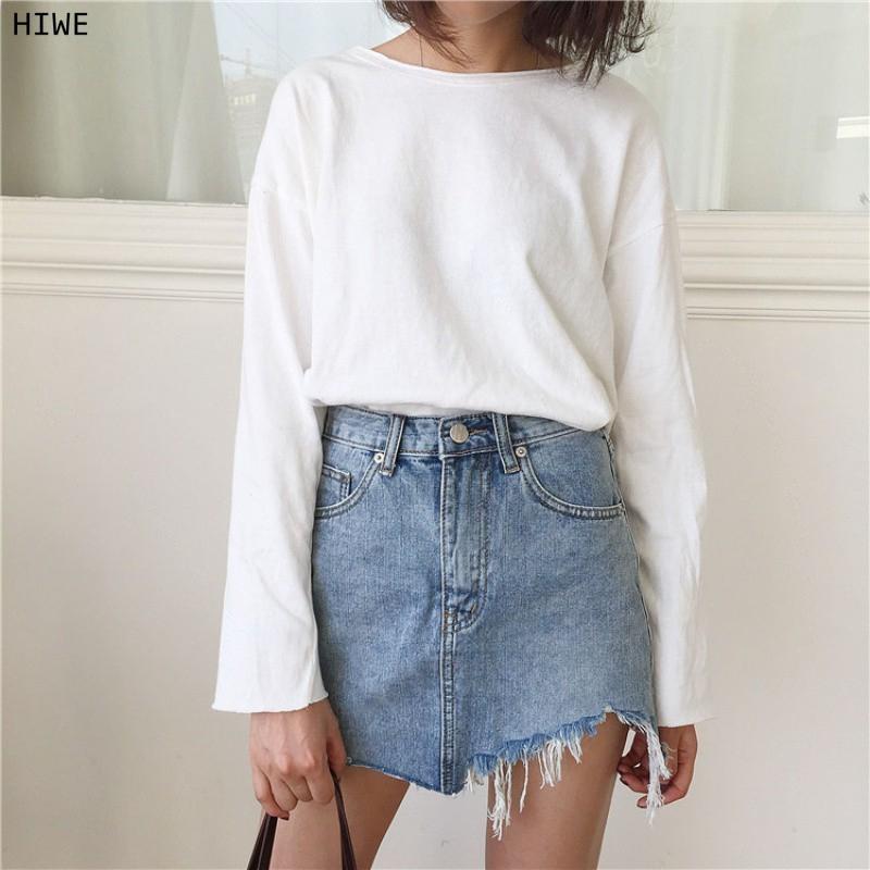Fashionable jeans skirt legs for women
