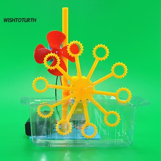 WT DIY Assembly Electric Bubble Machine Model Science Experiment Kit Education Toy thumbnail
