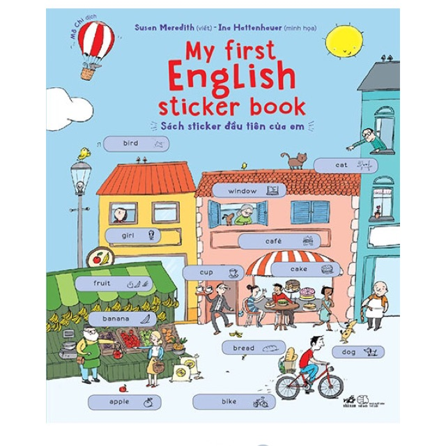 Sách - MY FIRST ENGLISH STICKER BOOK
