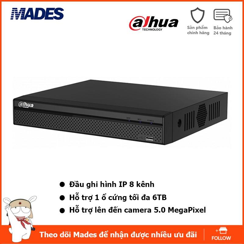 Đầu ghi hình 8 kênh HD-CVI hỗ trợ Camera 1.0MP/2.0MP Dahua XVR1A08 (Tem DSS)
