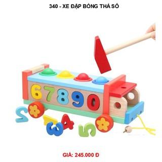 Xe ô tô gỗ đập bóng thả số 340 | đồ chơi gỗ kidstoys | đồ chơi gỗ an toàn cho bé tại Hà Nội | Đồ chơi vận động giá tốt