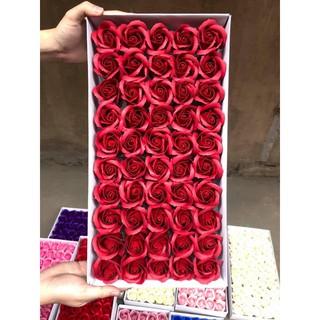 Hộp 50 đầu bông hồng sáp thơm vĩnh cửu hàng loại 1 (nhiều màu)