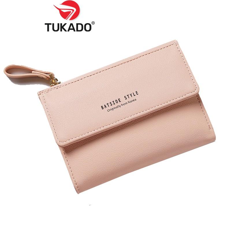 Ví Nữ Mini Cầm Tay 𝐁𝐀𝐓𝐒𝐈𝐎𝐄 Nhiều Ngăn Đựng Tiền Đựng Thẻ Tiện Dụng BS01 - Tukado
