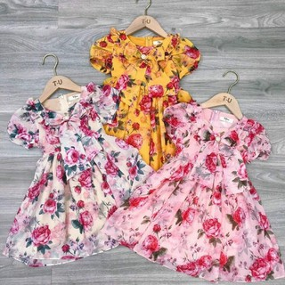 váy voan tơ siêu xinh cho các bé