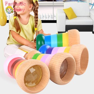 BABY Baby Kids Wooden Magic Kaleidoscope Educational Learning Puzzle Toys