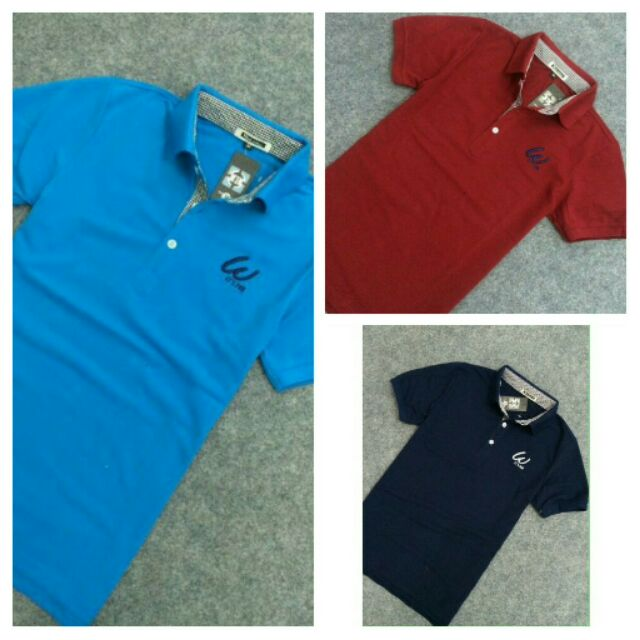 Combo 3 áo thun nam ngắn tay cổ bẻ logo w