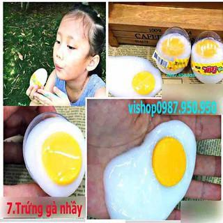 trứng gà nhầy