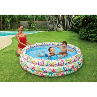 Bể bơi tròn 3 Tầng 132cm tặng kèm phao bơi và bóng cho bé