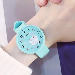 Đồng hồ thời trang nữ dây cao su mặt thú xinh Candycat PKHRCAT001 (Đường kính mặt: 36 mm)