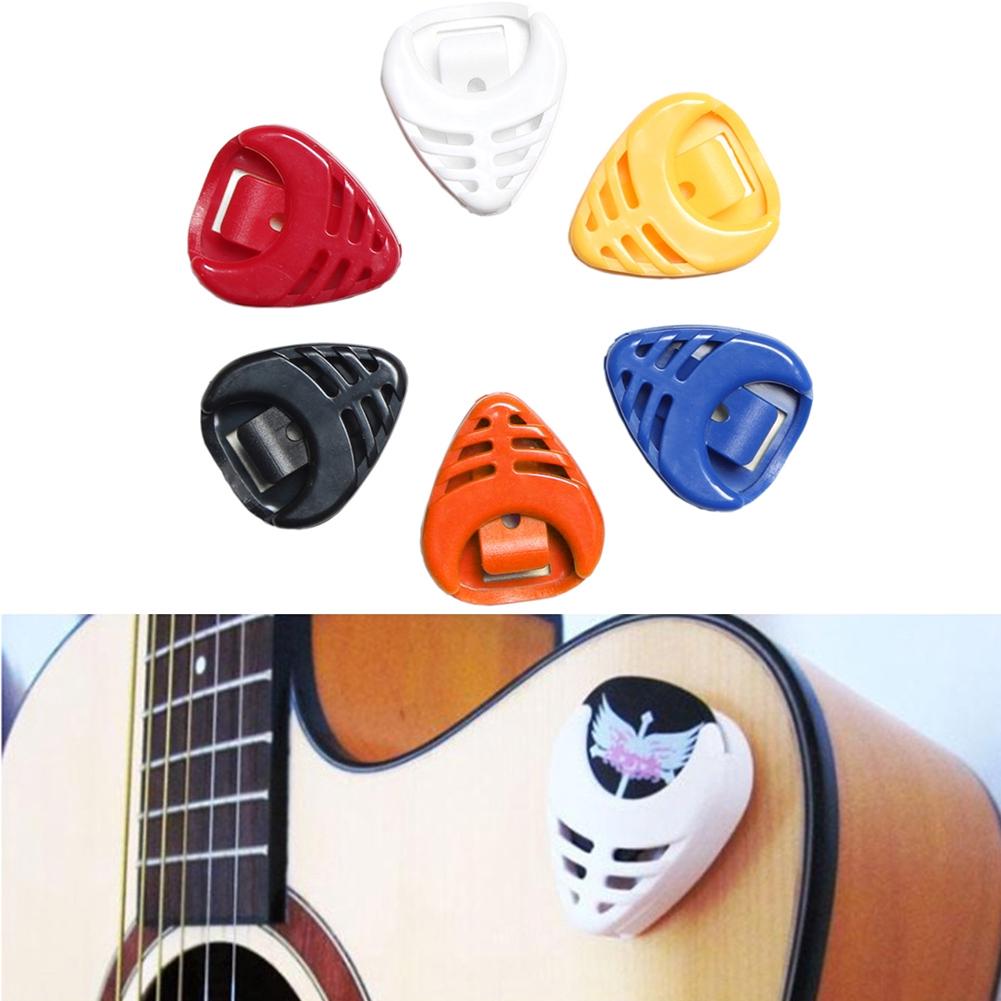 6 Pcs NEW Durable Plastic Guitar Pick Picks Collection Holder Accessories  Box Acoustic Electric Parts