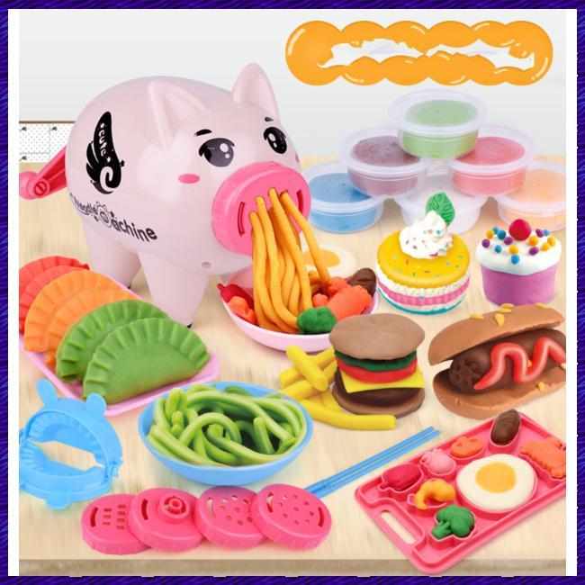 Kids Simulate Plasticine Pig Shape Pasta Machine Play House Puzzle Toy