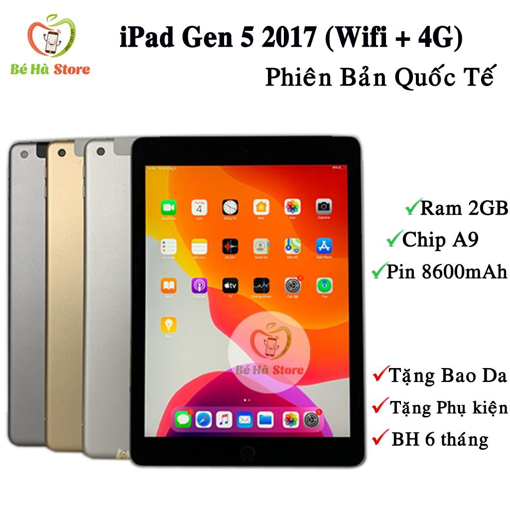 Máy Tính Bảng iPad Gen 5 - 2017 / 32Gb (4G + Wifi) Quốc tế - Zin Đẹp Như Mới - iPad 9.7inch 2017 [Tặng Ốp Lưng