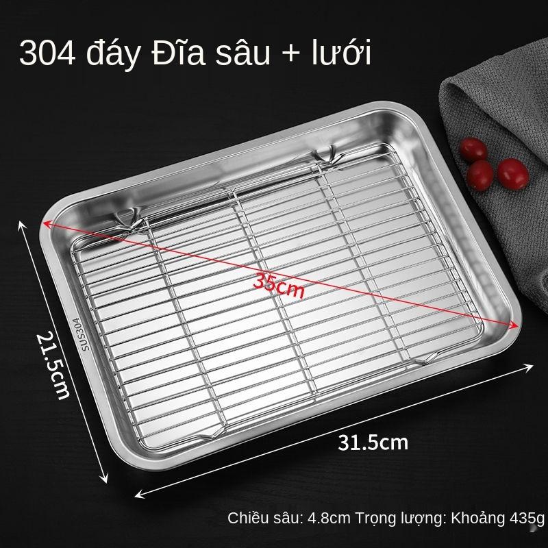 【Chịu nhiệt】 Khay nướng thủy tinh hình chữ nhật có nắp đậy Thố thủy tinh Khay nướng khay nướng cá Khay nướng chuyên dùng