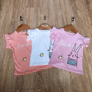(8-18kg) Áo tay bèo cho bé gái, áo tai thỏ cho bé gái,áo phông cho bé gái chất cotton giãn 4 chiều CiZi.shop