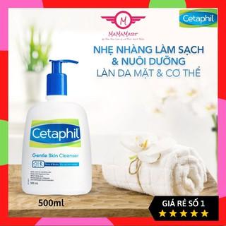 Sữa rửa mặt làm sạch dịu nhẹ Cetaphil Gentle Skin Cleanser 500ml ( Cannada) dành cho da dầu hoặc cho da khô