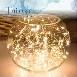 Dây đèn led trang trí đom đóm, fairy light trắng, vàng, nhiều màu chạy dùng pin AA decor nhà cửa, phòng ngủ, hộp q