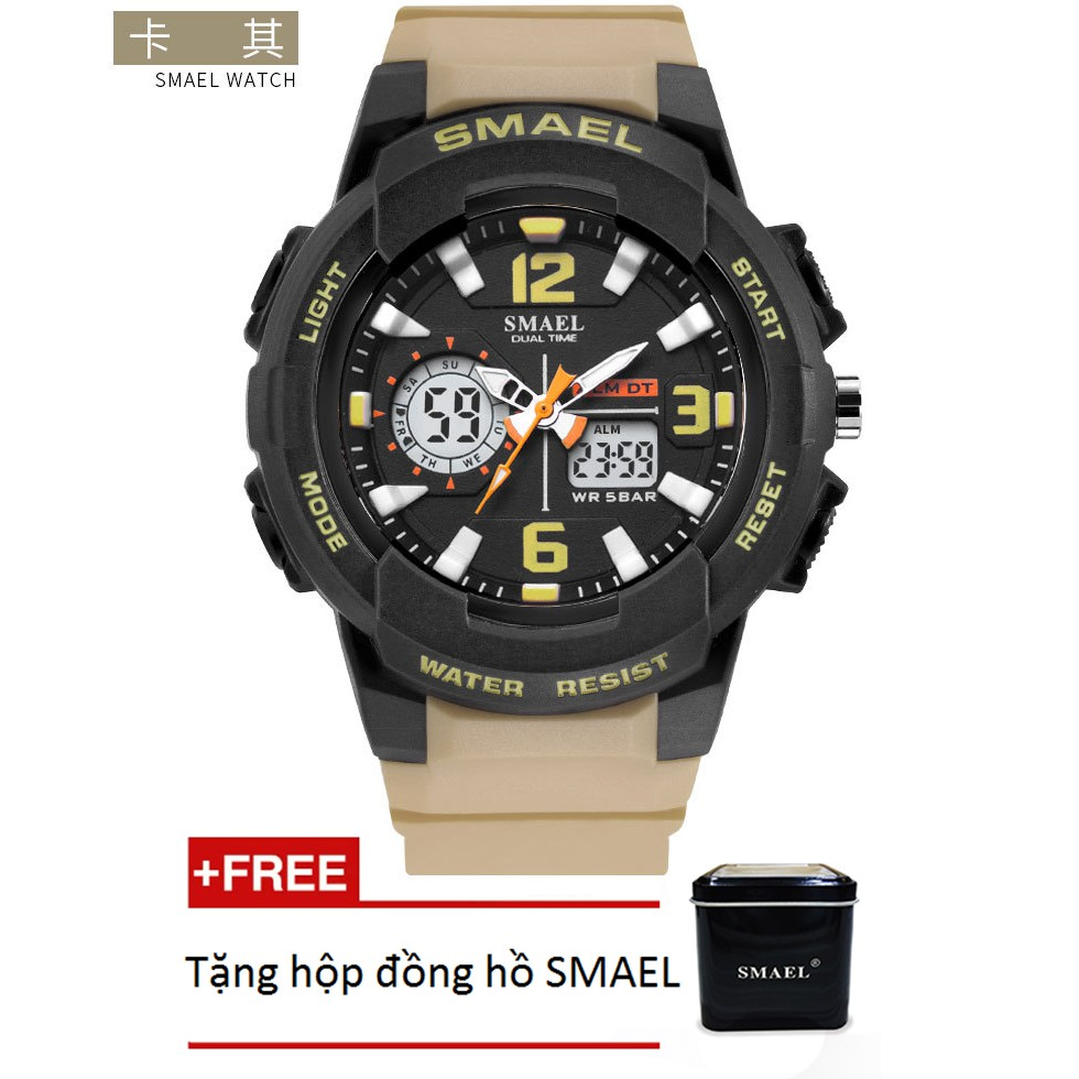 Đồng hồ điện tử thể thao unisex (nam - nữ) SMAEL dây Silicon SM008 - Sắc màu rực rỡ