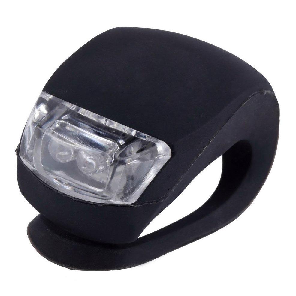 Waterproof LED Head Front Rear Wheel Bicycle Bike Cycling Silicone Head Front Rear Wheel Safety Light Lamp