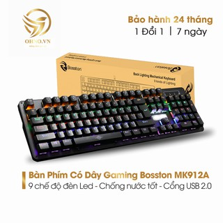 Bàn Phím Có Dây Máy Tính Bàn Đèn Led Bosston MK912A Bàn Phím Cơ Gaming Cao Cấp - OHNO Việt Nam thumbnail