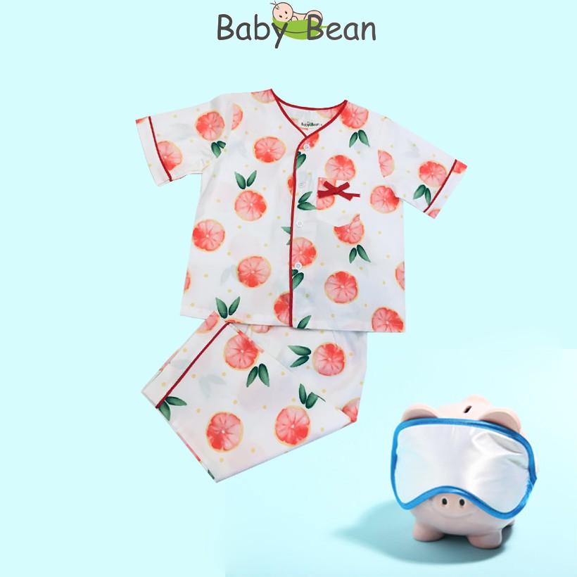 Pyjama cổ tim cho bé gái họa tiết cam Baby...