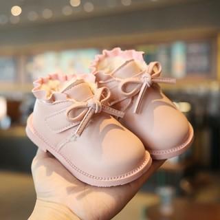 Giày Bốt Bé Gái Lót Lông Mỏng Đế Mềm