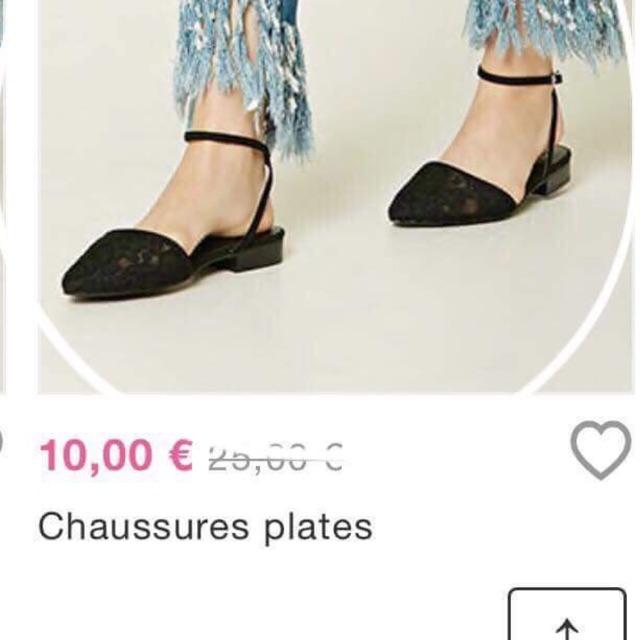 (Gom sale ) giày f21 đen có dây cổ
