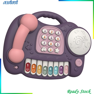 [Ready Stock] Simulation Kids Telephone Toy Smart Phone with Lights & Music