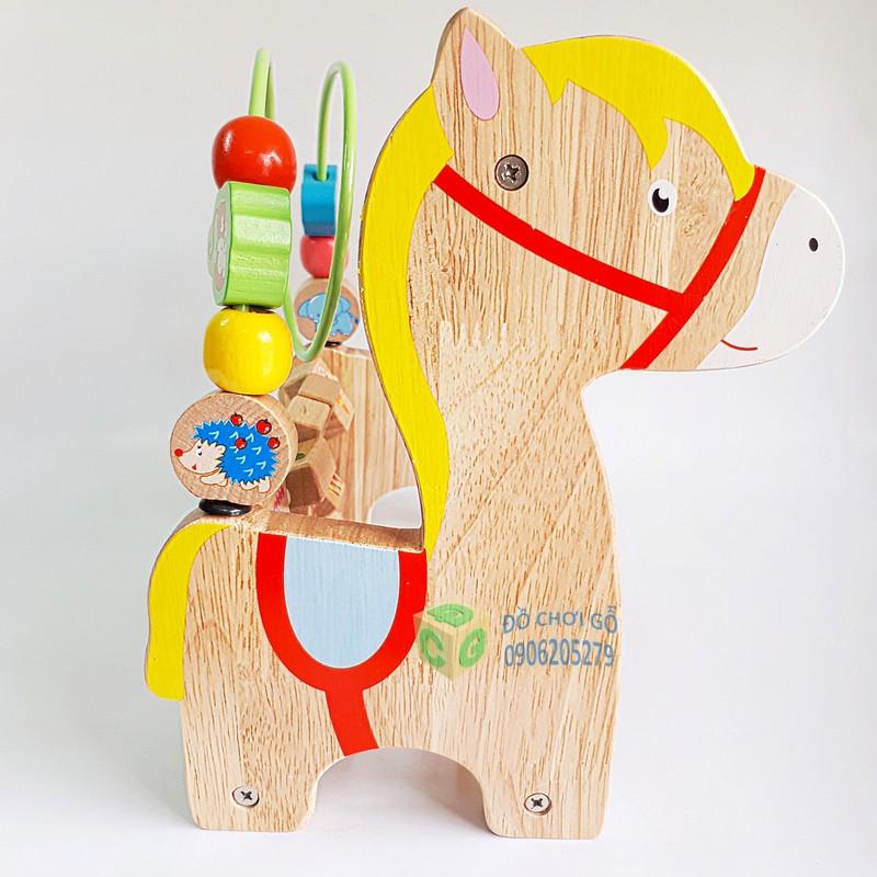 Đồ chơi gỗ Bàn tính đa năng hình ngựa Hãng S-Kids