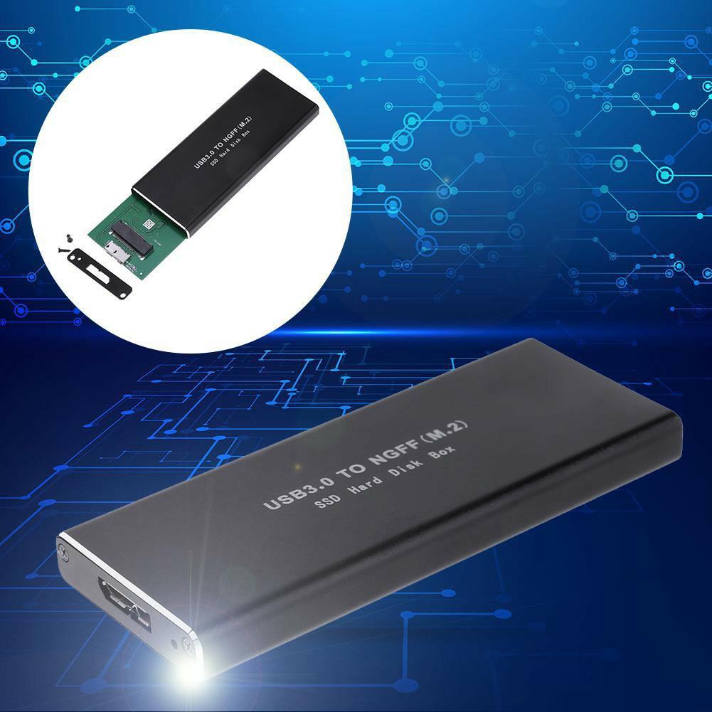 Hộp ổ cứng USB3.0 gắn SSD SATA M.2 2280 kèm phụ kiện tốc độ cao tiện dụng Giá chỉ 169.000₫