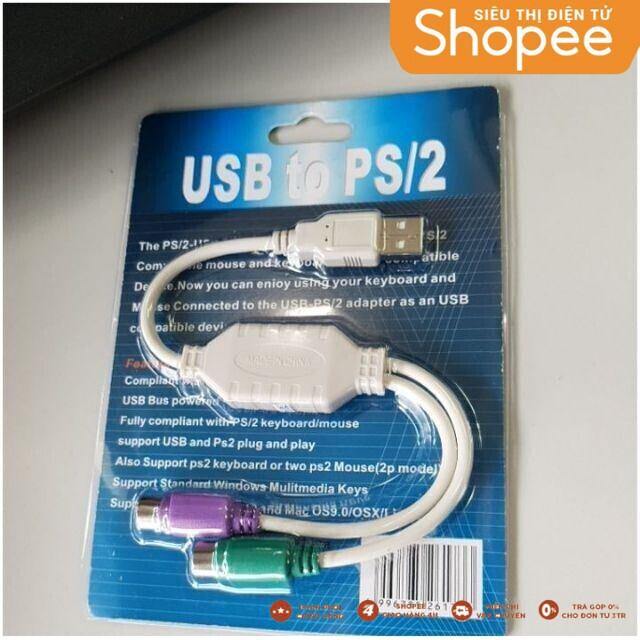 [SALE RẺ VÔ ĐỊCH] CỔNG USB chuyển đổi ra PS2 Giá chỉ 20.000₫