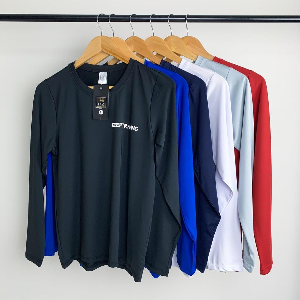 Áo giữ nhiệt nam áo dài tay áo thể thao nam 6 màu KEEP TRAINING