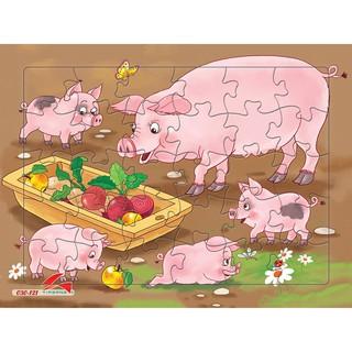 Yêu ThíchTranh xếp hình A4 cho bé, 30 mảnh ghép, Tia Sáng Việt Nam. Đồ chơi trí tuệ cho bé từ 3 tuổi