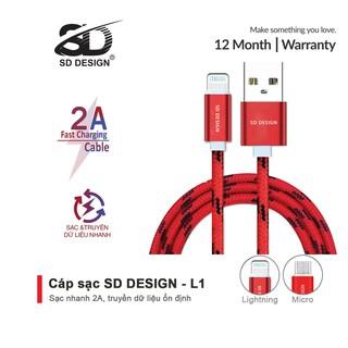 Cáp Sạc iPhone, Micro dây dù chính hãng SD DESIGN L1 sạc và truyền dự liệu điện thoại ổn định, Bảo Hành 1 Đổi 1 thumbnail