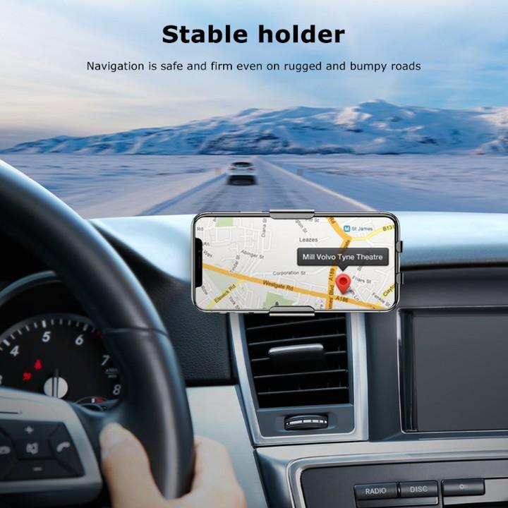 Giá đỡ điện thoại kiêm sạc không dây Baseus cao cấp WXZN-B01, xoay 360 độ - Hàng chính hãng
