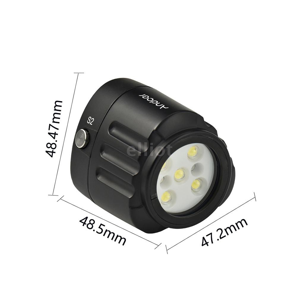 ELT Andoer SL-18 Professional Diving LED Video Light 1000LM Amphibious Waterproof LED Fill-in Light