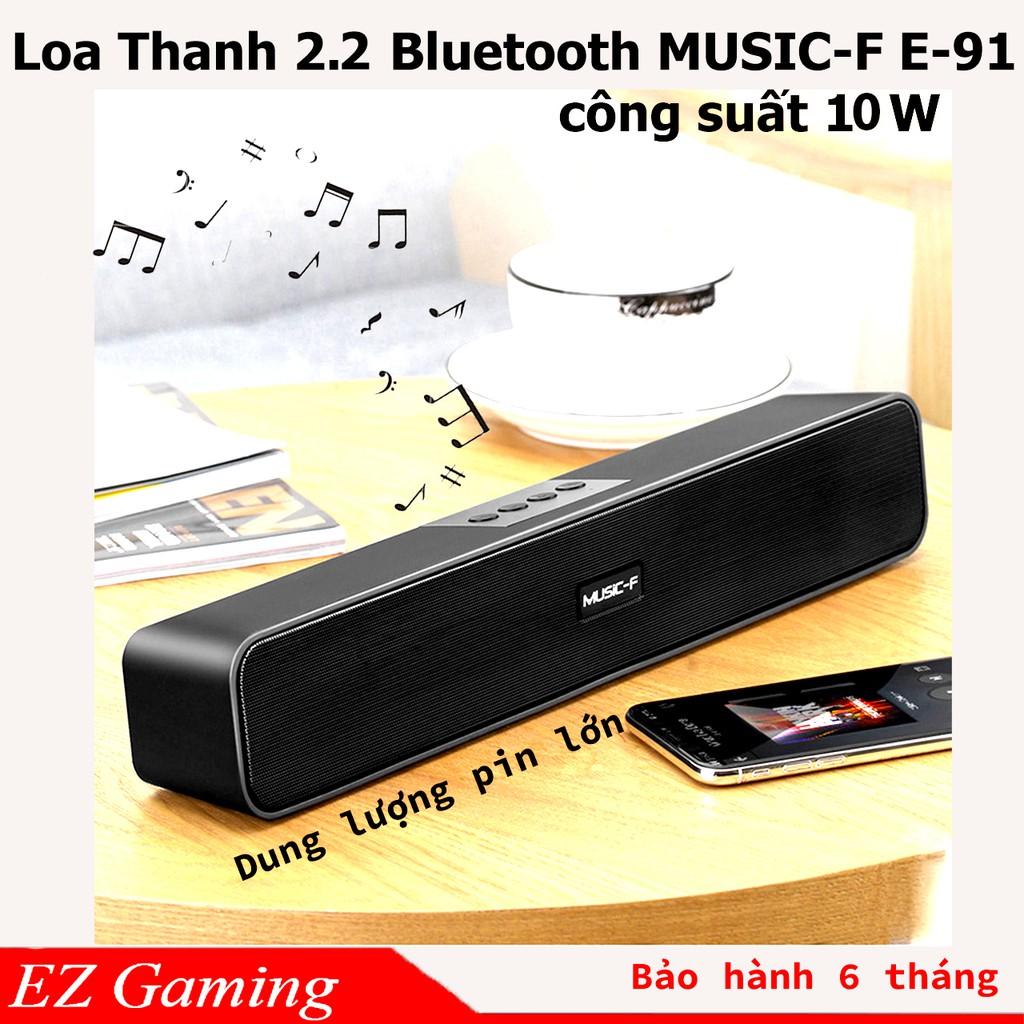 [Free Ship] Loa Thanh soundbar 2.2 Bluetooth E91 10W, Pin dung lượng lớn, âm thanh sống động, Hổ trợ thẻ nhớ,USB.