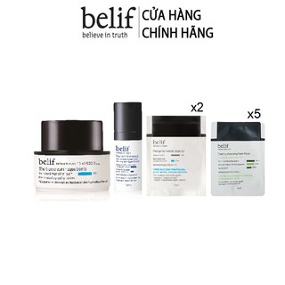 [HB Gift] Bộ mẫu thử Belif numero 10 essence 10+ Creamy Cleansing Foam Moist + The True Cream AquaBomb Sample Gimmick