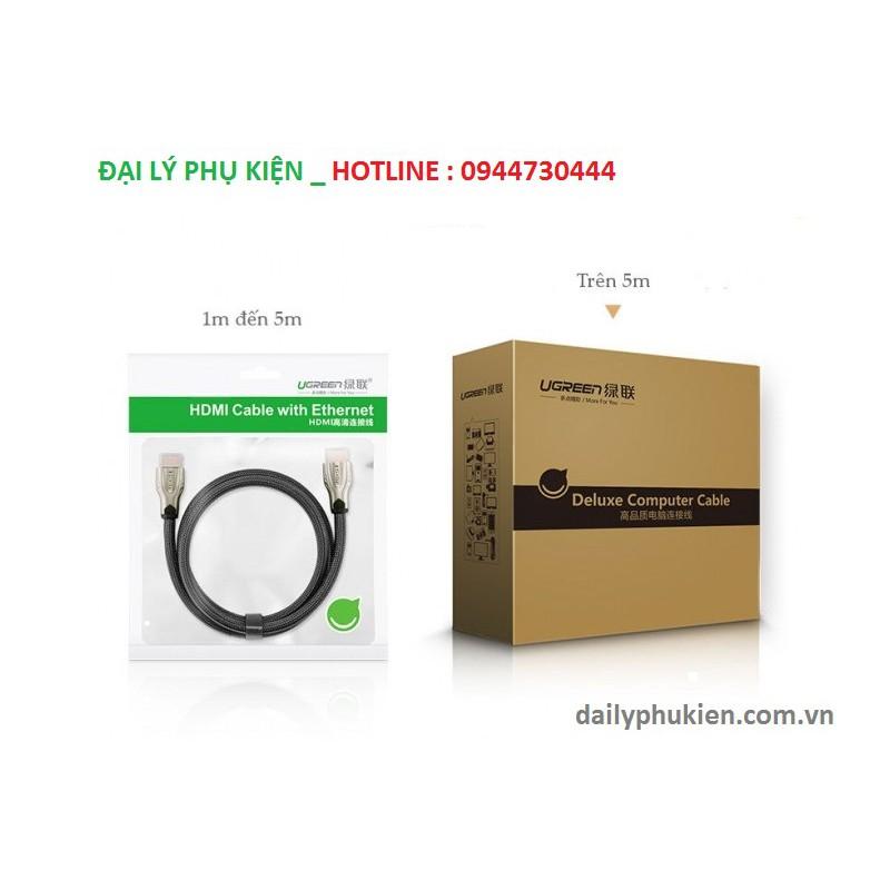 Cáp HDMI 3m dây dẹt Ugreen 10253 Hỗ trợ 3D, 4K x 2K, HD1080P