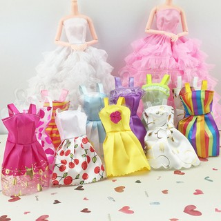 10pcs/set Mix Beautiful Handmade Party Barbie Dress