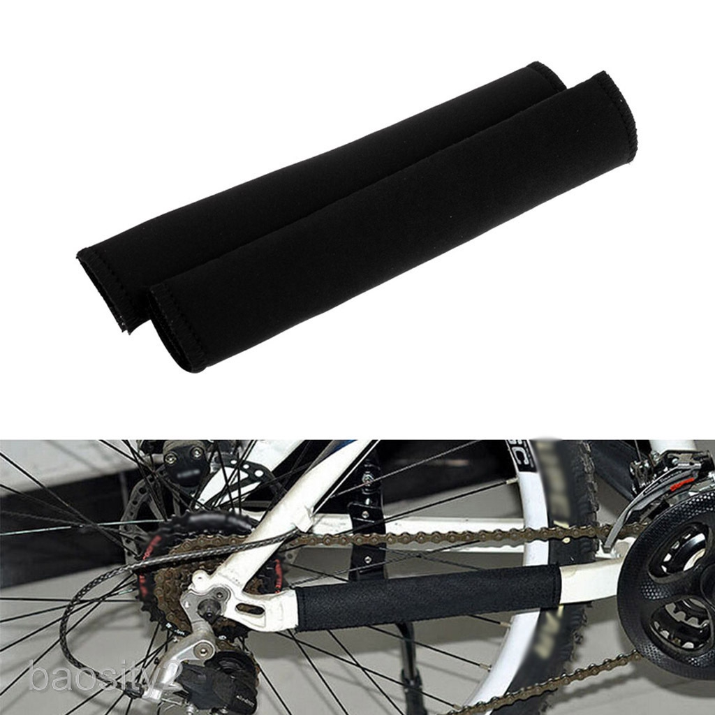 2Pcs Outdoor Sport Neoprene Black Posted Frame Chain Protector Cycling Care Bike Guard Cover