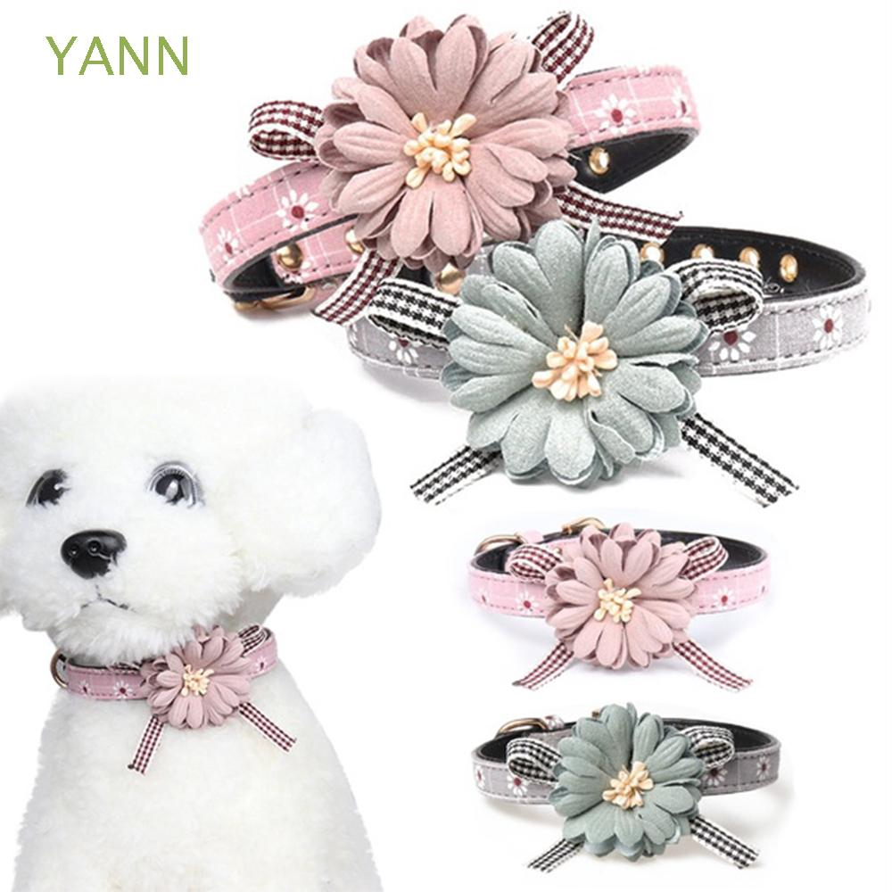 YANN Puppy Buckle Pet Supplies Cat Accessories Bowknot Dog Collar