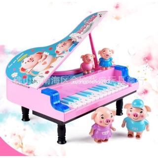 Hộp đồ chơi ĐÀN PIANO để bàn kèm GIA ĐÌNH HEO PEPPA loại lớn