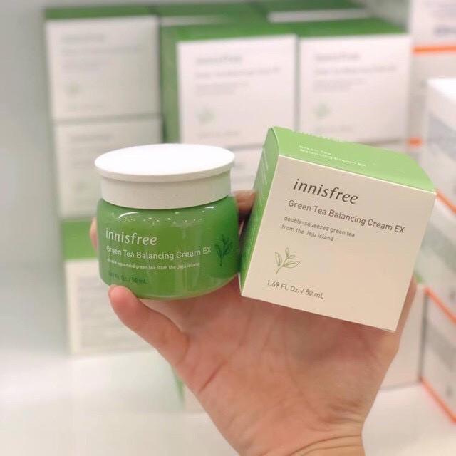 Kem dưỡng ẩm Innisfree Green Tea, Kem dưỡng ẩm da hàng chuẩn Mỹ phẩm Hàn Quốc (Auth)